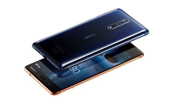 modry telefon Nokia 8