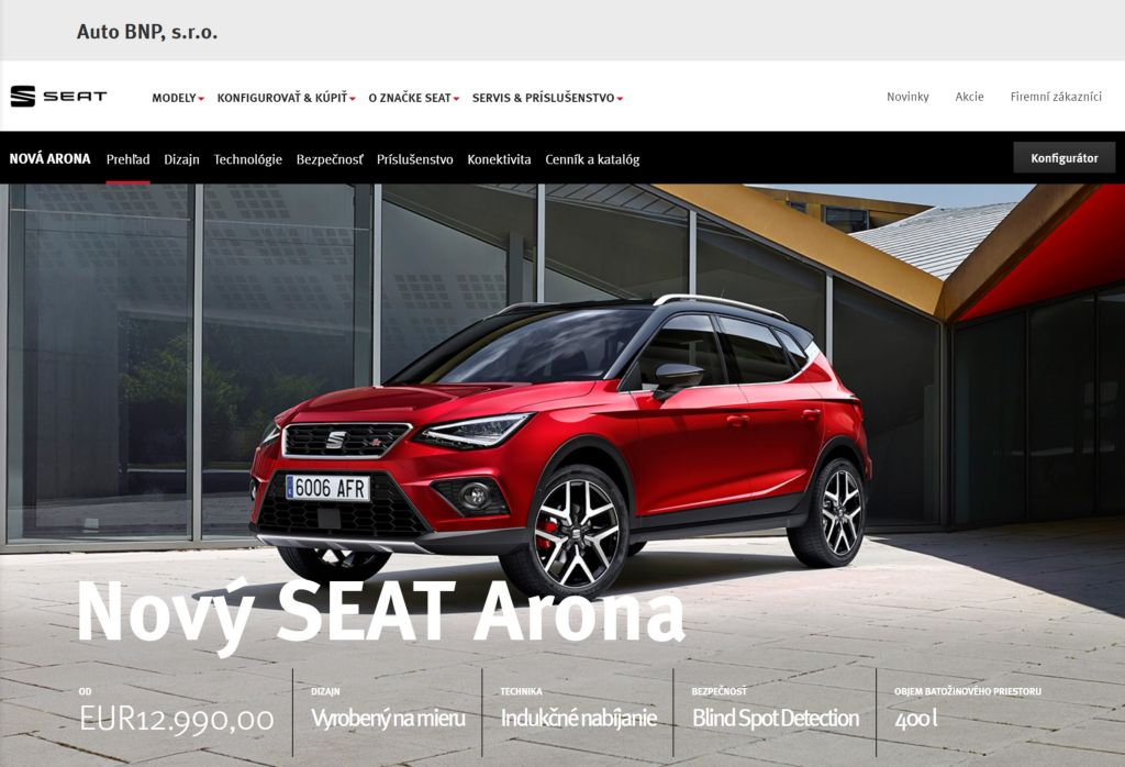 autorizovany predajca SEAT auto BNP