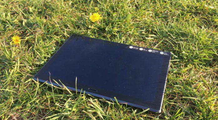 predna sklenena strana tabletu Lenovo