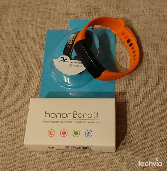 balenie inteligentného náramku Honor Band3