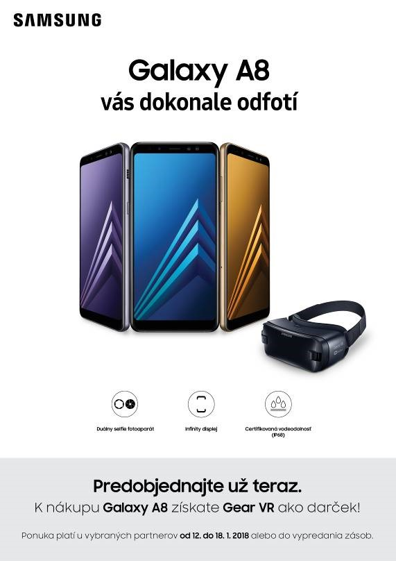 Samsung Galaxy A8 a VR okuliare