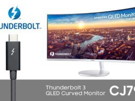 Monitor CJ791 QLED s podporou štandardu Thunderbolt