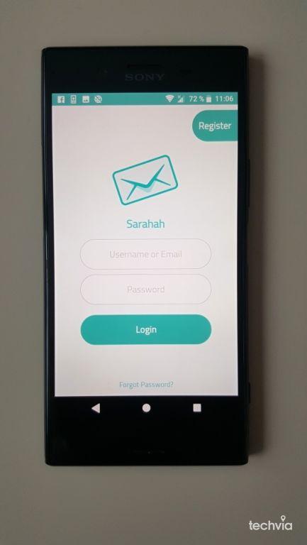 aplikácia Sarahah