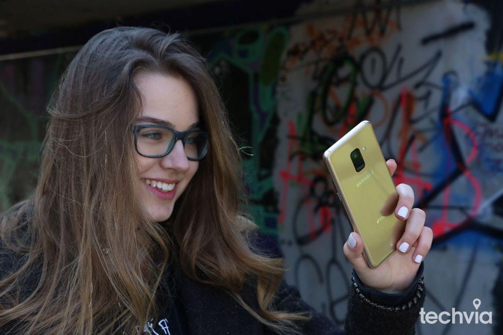 selfie foto Samsung Galaxy A8 recenzia