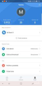 fitnes náramok recenzia Xiaomi Mi Band 3