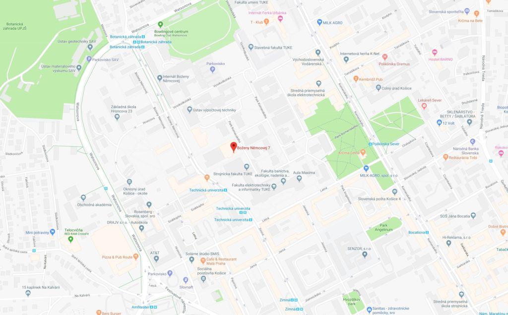 web_mapa_TUKE_Kosice_techvia_sk