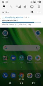 Motorola G6 Play - aktualizácia na Android 9