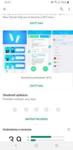 WT2 Plus aplikácia