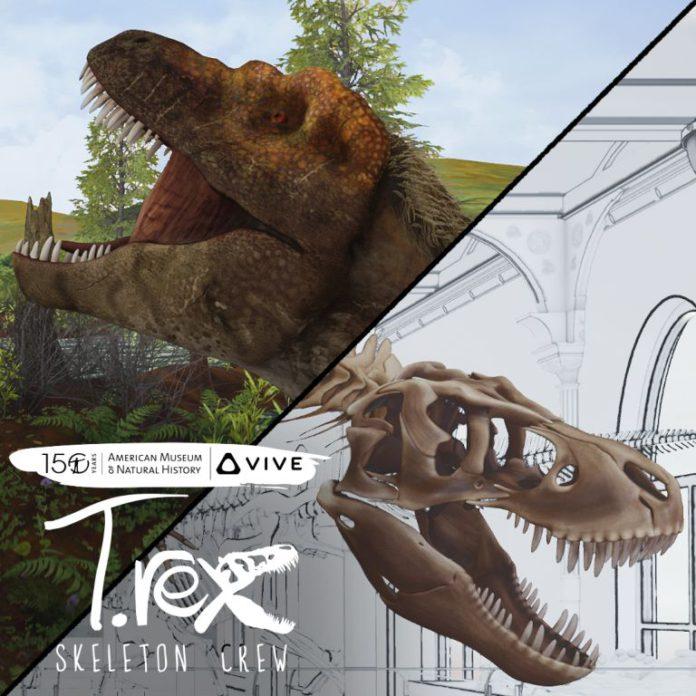 edukatívna aplikácia T. Rex: Skeleton Crew z produkcie HTC VIVE