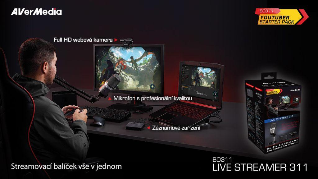 streamovacia zostava Live Streamer 311 – BO311