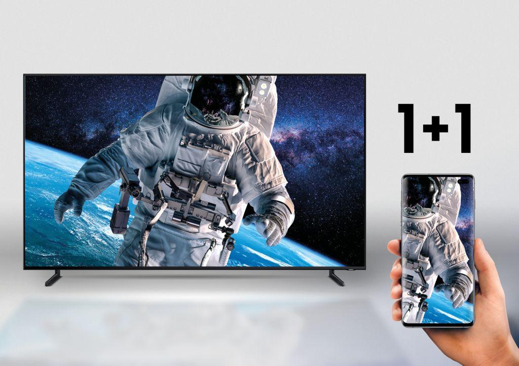 Samsung TV QLED 8K + Samsung Galaxy S10
