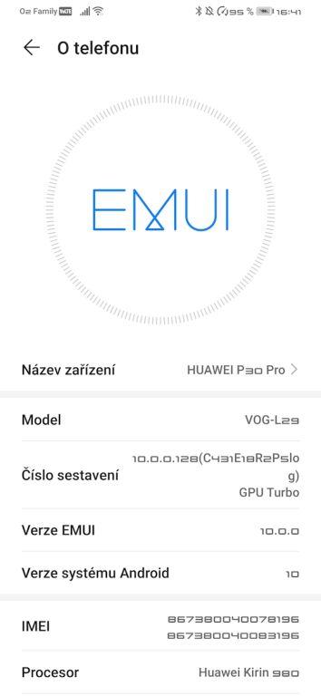 Android 10 nadstavba EMUI 10