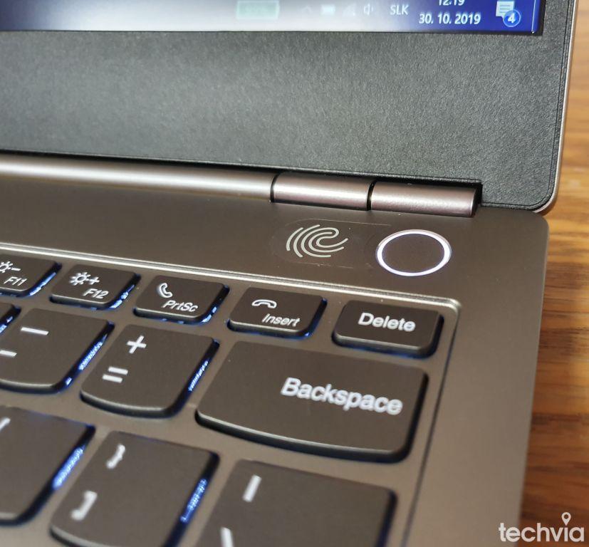 otlačok prsta Lenovo ThinkBook 13S