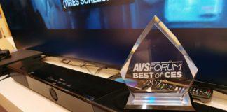 "AVS Forum ocenenie ""Best of CES 2020"""
