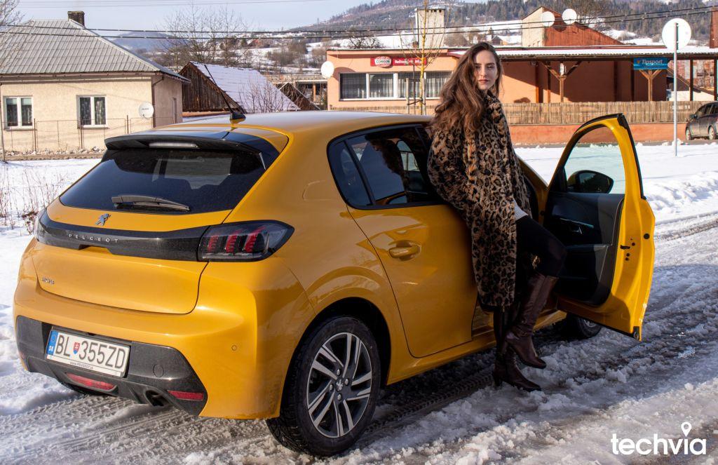 žltá farba Peugeot 208