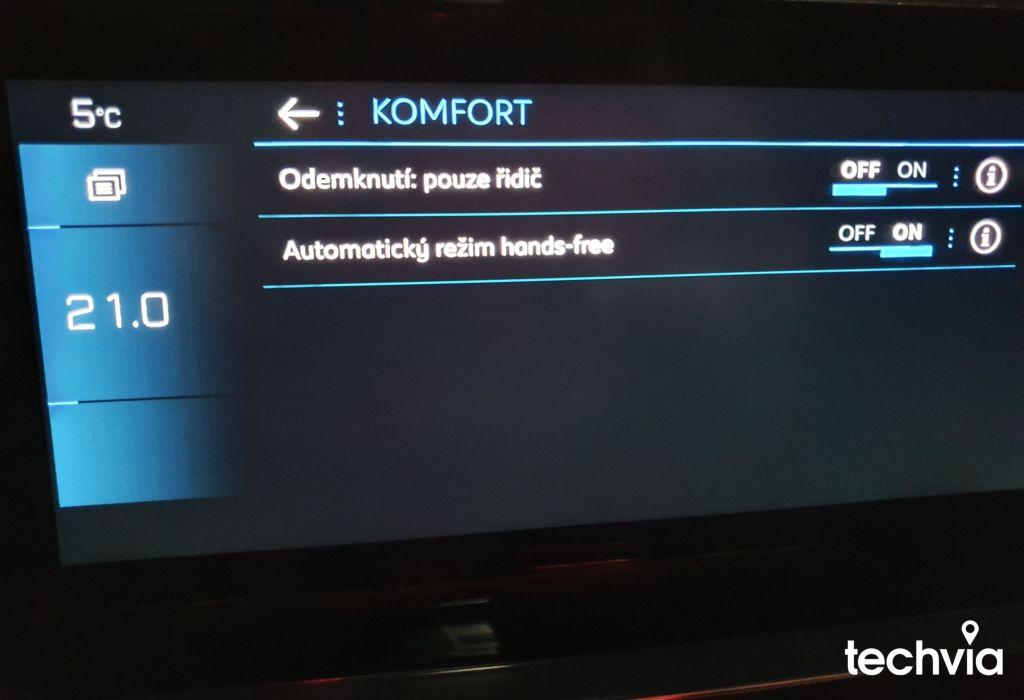 nastavenie LCD PEUGEOT 208