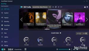 zvuková karta Creative SoundBlasterX AE-5 plus