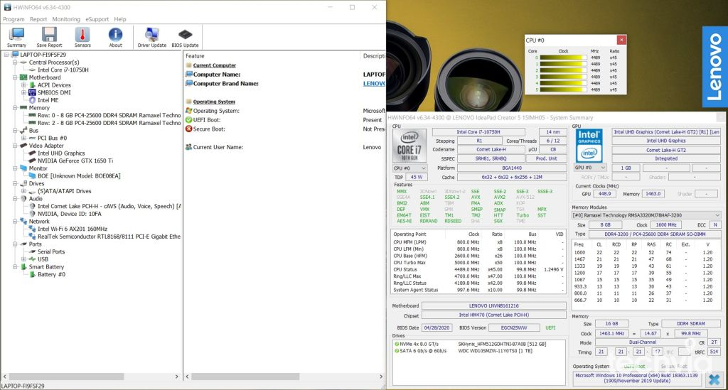 Lenovo IdeaPad Creator 5 15IMH05