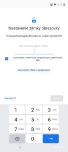Screenshot Zabezpečenie – snímač odtlačkov prstov