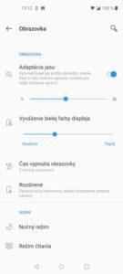 Screenshot displej OnePlus NORD N10 5G
