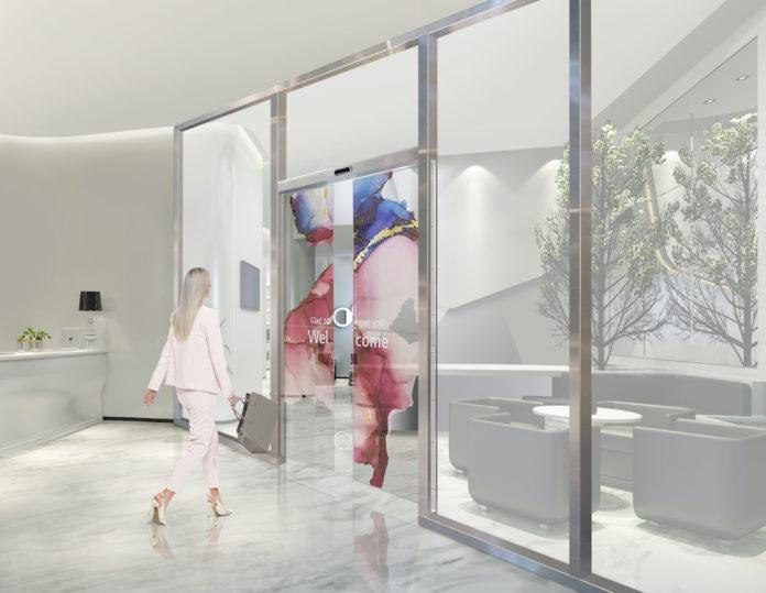 Transparent OLED Automatic Door