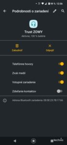 Screenshot reproduktor ZOWY