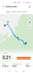 Tréning – zistenie pohybovej aktivity
