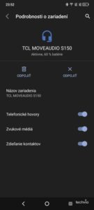Screenshot slúchadlá TCL MOVEAUDIO S150
